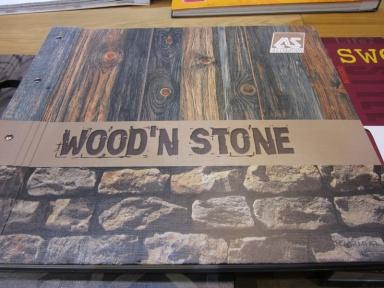 papel pintado maderas y piedras