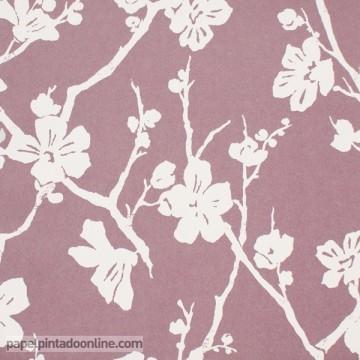 papel pintado floral coordonné